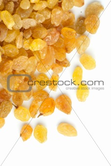 A heap of golden raisins
