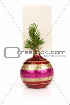 Blank card and Christmas ball