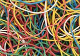 colored rubber bands background
