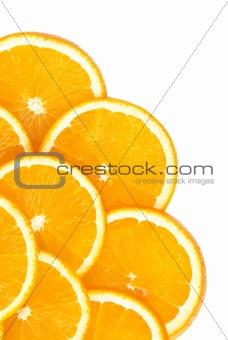 Slice of orange. isolated on a white background
