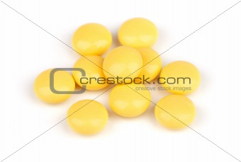 a lot of yellow pill