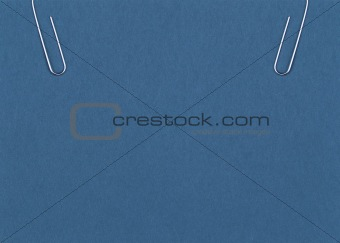 clip holding a blank paper sheet