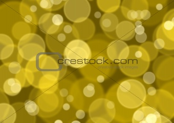 abstract background of gold lights