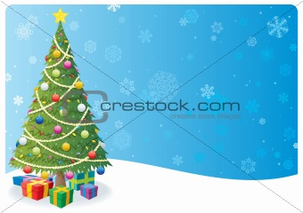 Christmas Tree Background 1