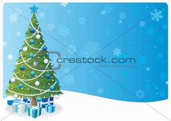 Christmas Tree Background 2