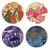 Medals with houses