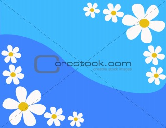 background with flowers in vector