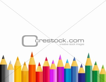 abstract retro vector colorful paint pencils