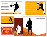 basketball business card and poster