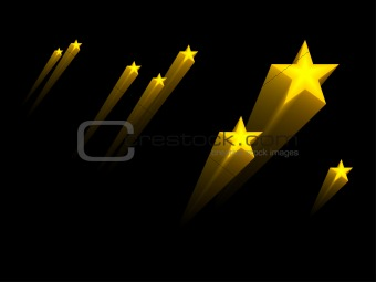 3d stars, vector  without gradient, used blends only
