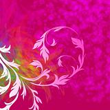 illustration of floral style abstract background, eps10