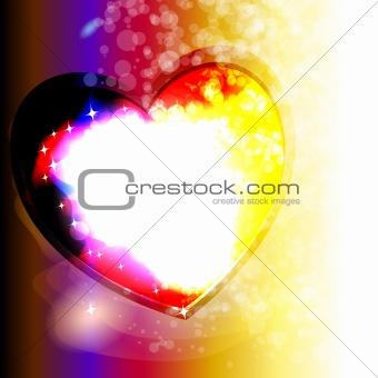frame in the heart shape, vector eps10