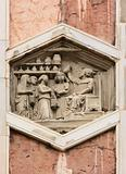 Vintage bas-relief in Florence, Italy