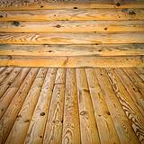 pine floor and wall
