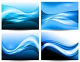 3d stylized water waves, vector