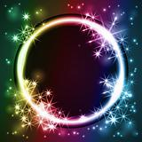glowing round frame, vector