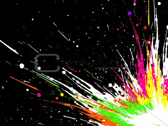 grunge  splash, vector