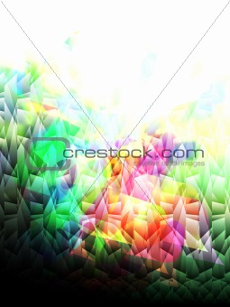 abstract mosaic tiles, vector