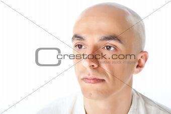 Portrait of bald male