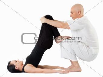 Massage in thai position