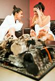 females fireplace gossip