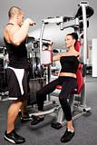 Female gym exercise trainer