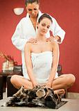 Female massage relax spa