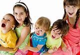 group happy kids