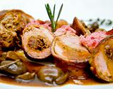 Pork fillet with sauce