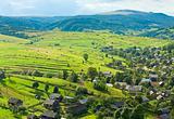 Summer mountain village