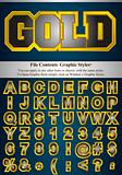 Letters with graphic style