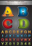 4 Colors of Alphabet Stroke Styel