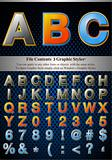 Multi Layer Emboss Alphabet With Halftone Fill