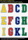 Set Tackle Twill Alphabet