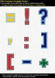 Set Tackle Twill Alphabet