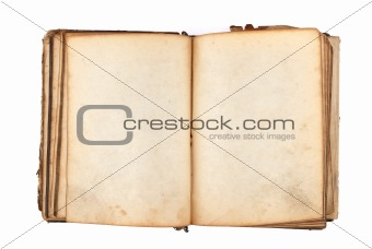 ancient book with blank pages