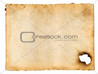 old blank sheet