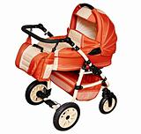 Pushchair for transporting children in winter