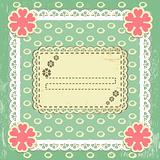 Scrap vintage frame on grange background