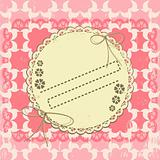 Ornate vintage vector frame on grange background
