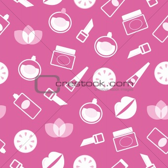 Cosmetics and wellness seamless pattern or texture -