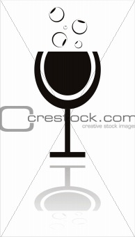 black cocktail icon