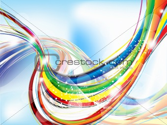 abstract colorful background with sparkle