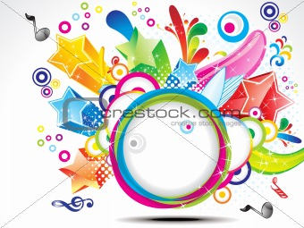 abstract colorful explode circle background