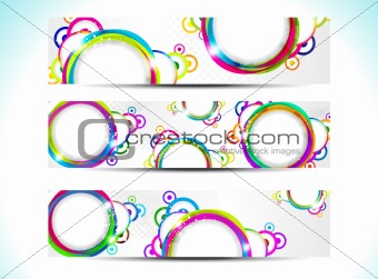 abstract colorful web banner