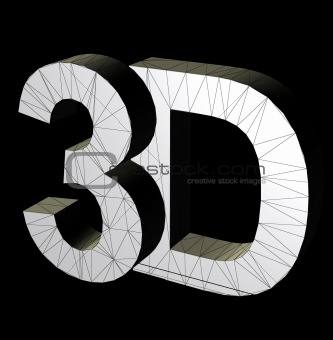 3d three dimensional letters illustration