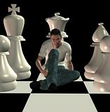 checkmate 3d illustration