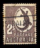 crocodile vintage postage stamp
