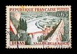 town of dinan postage stamp