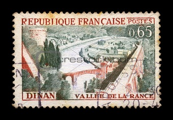 town of dinan postage stamp